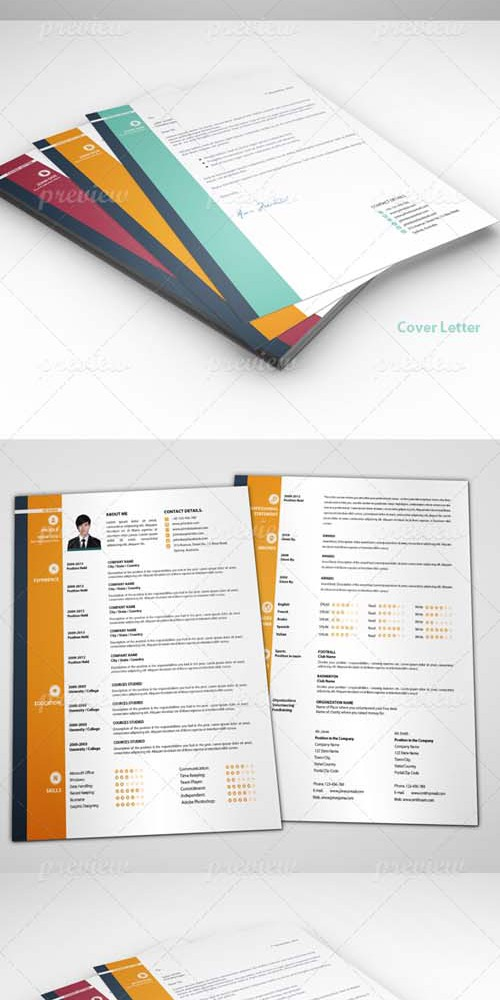 PSD - The Pro-Resume plus Cover Letter