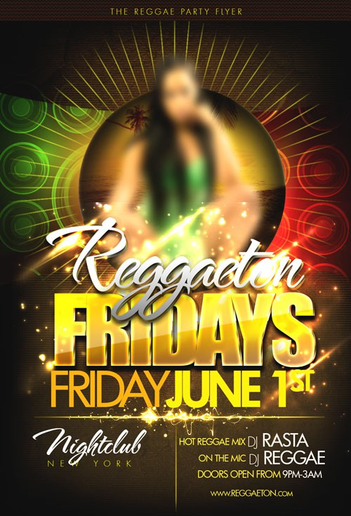 Flyer Template PSD - Reggaeton Fridays