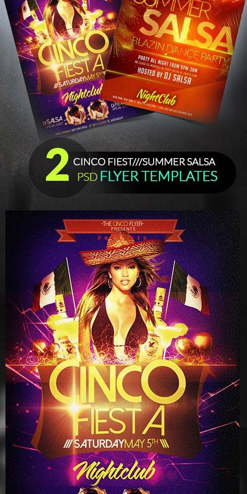 Flyer Templates - Cinco De Mayo and Summer Salsa