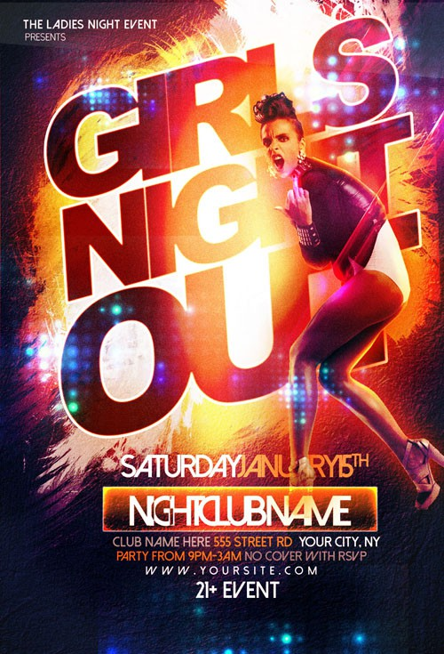 Flyer Template - Girls Night Out Party