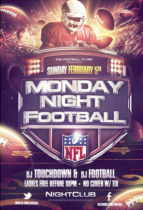 Flyer Template - Monday Night Football