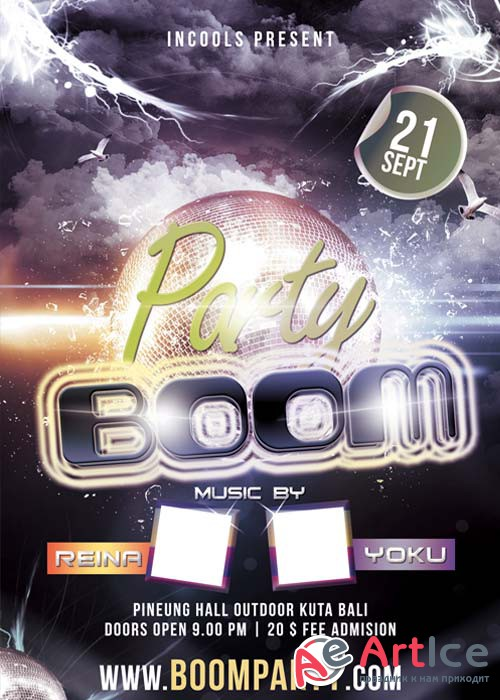 Party Boom Flyer