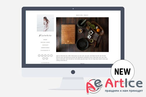 Creativemarket - Flatwhite - Food&Lifestyle v1.0 - Minimal Wordpress Theme for Food Bloggers 282395