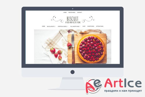 Creativemarket - Biscuit v1.0 - Food and Recipe Wordpress 221871