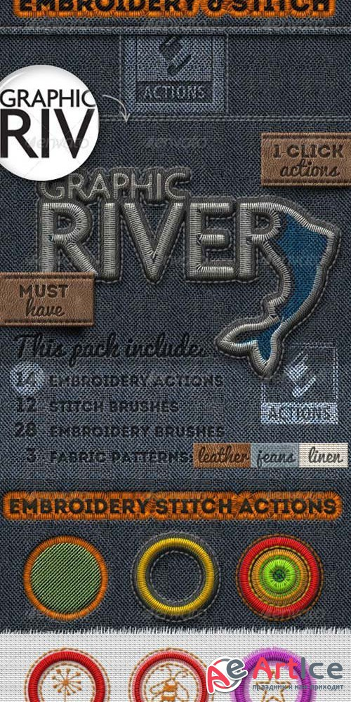 Embroidery and Stitching Photoshop Creation Kit 25684