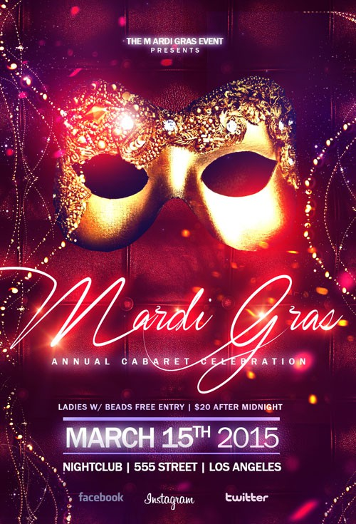 Flyer Template - Elegant Masquerade Ball
