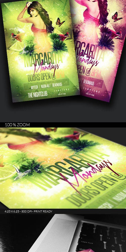 Flyer Template - Margarita Mondays PSD