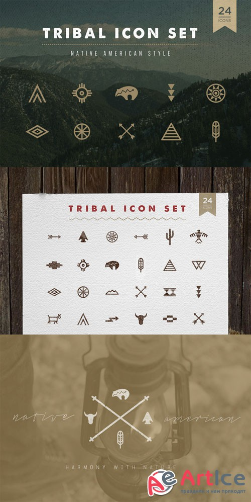Tribal Icon Set - Creativemarket 216733