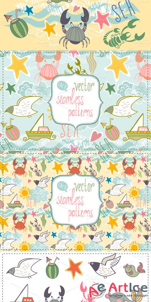 Creativemarket - Sea vector set 6980