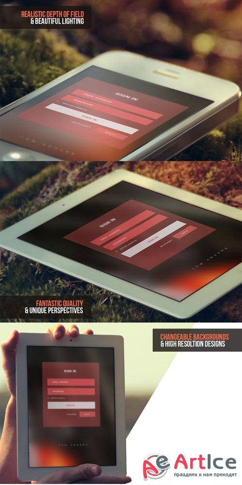 iPad & iPhone Mock-ups - Creativemarket 10798