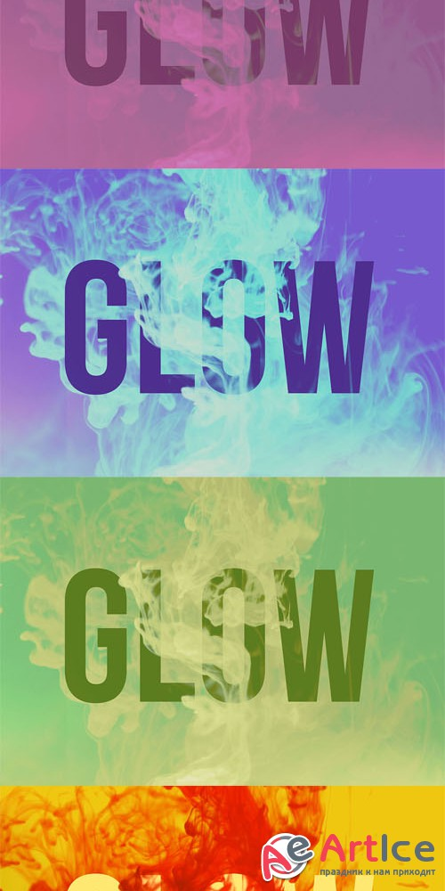 Glow Mock-Up PSD Template and JPG Photos