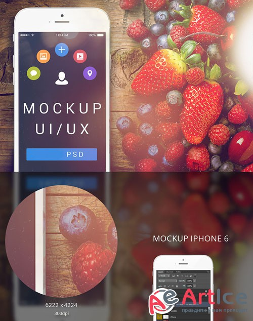 iPhone 6 Quality PSD Mock-Up Template
