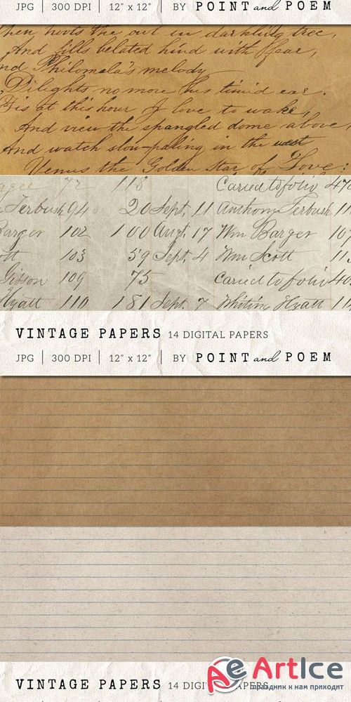 Creativemarket - Old vintage Paper textures 152746