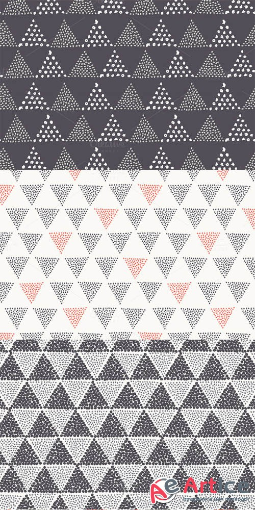 Triangles. Seamless Patterns. Set 4 - Creativemarket 232959