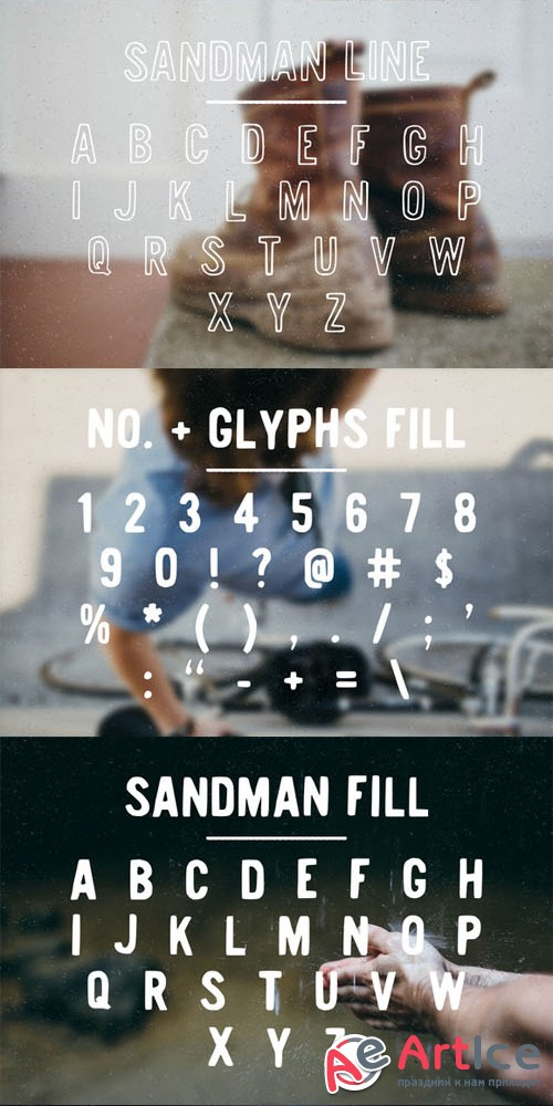 Sandman - Fill and Outline - Creativemarket 83489