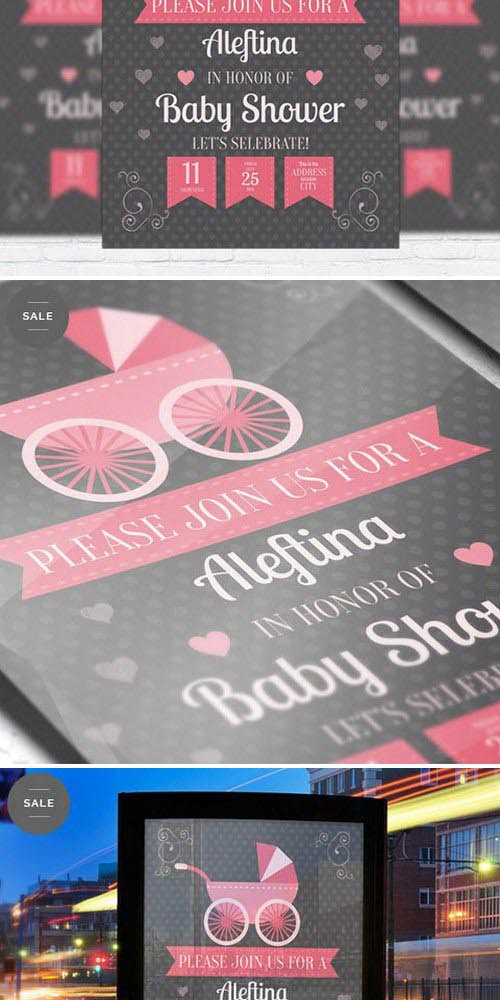 Business Flyer Psd Template - Baby Shower