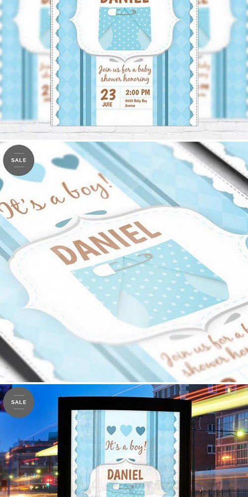 Business Flyer Psd Template - Baby Shower For Boy