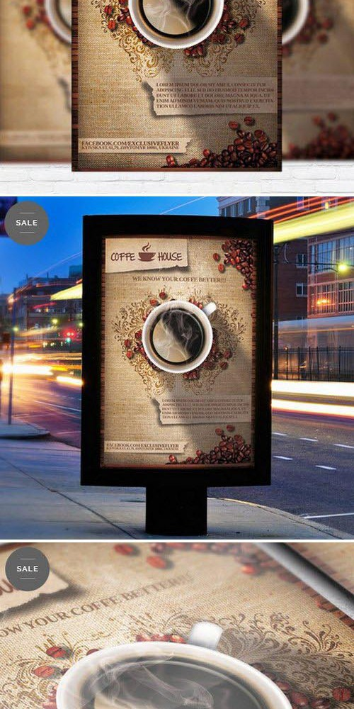 Business Flyer Psd Template - Coffee Shop Vol.2