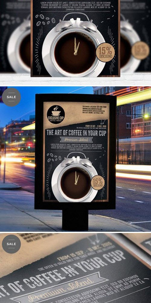 Business Flyer Psd Template - Coffee Shop