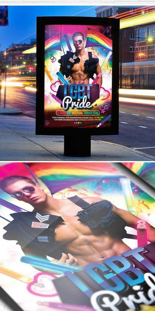 Flyer Template - Lgbt Pride + Facebook Cover