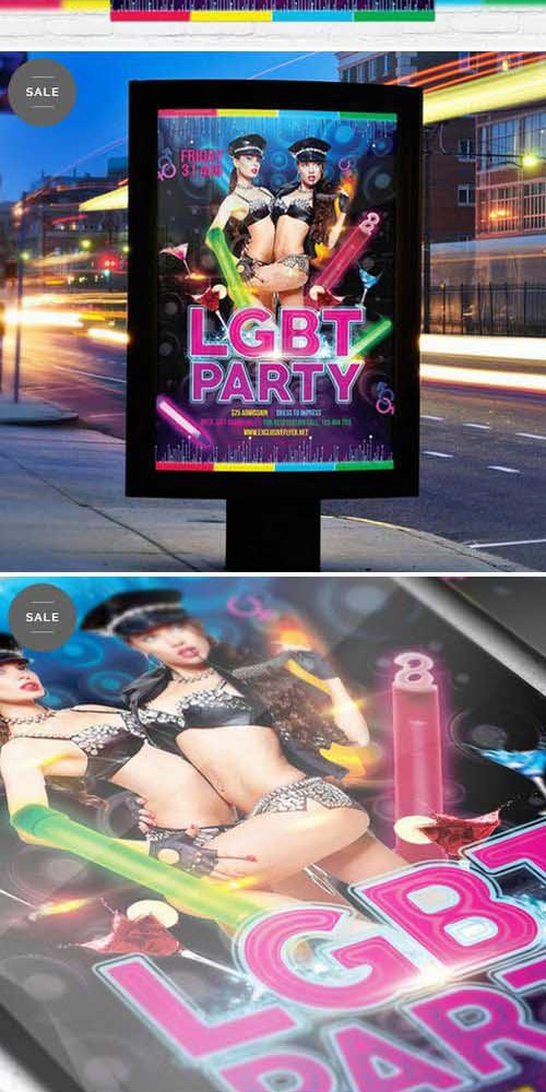 Flyer Template - Lgbt Party + Facebook Cover