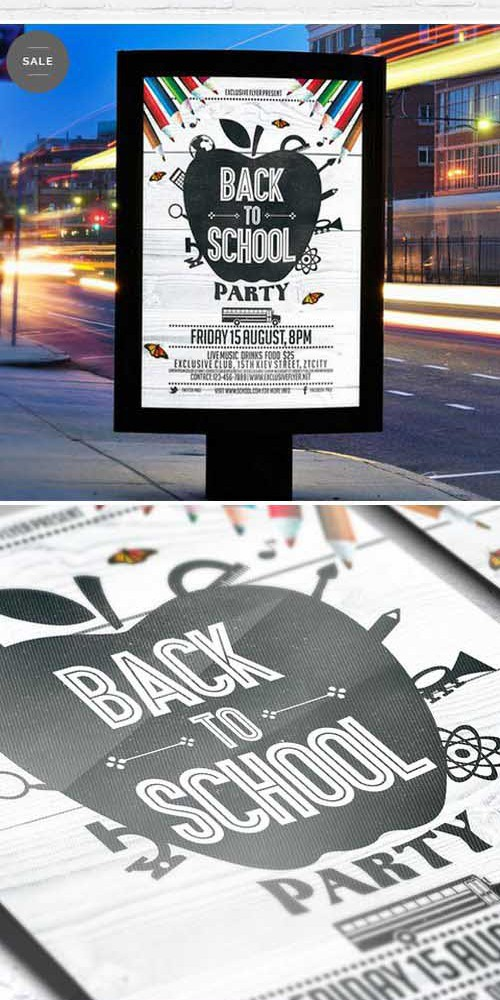 Flyer Template - Back To School Vol.4 + Facebook Cover