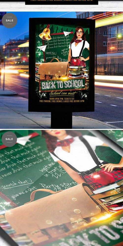 Flyer Template - Back To School Vol.3 + Facebook Cover