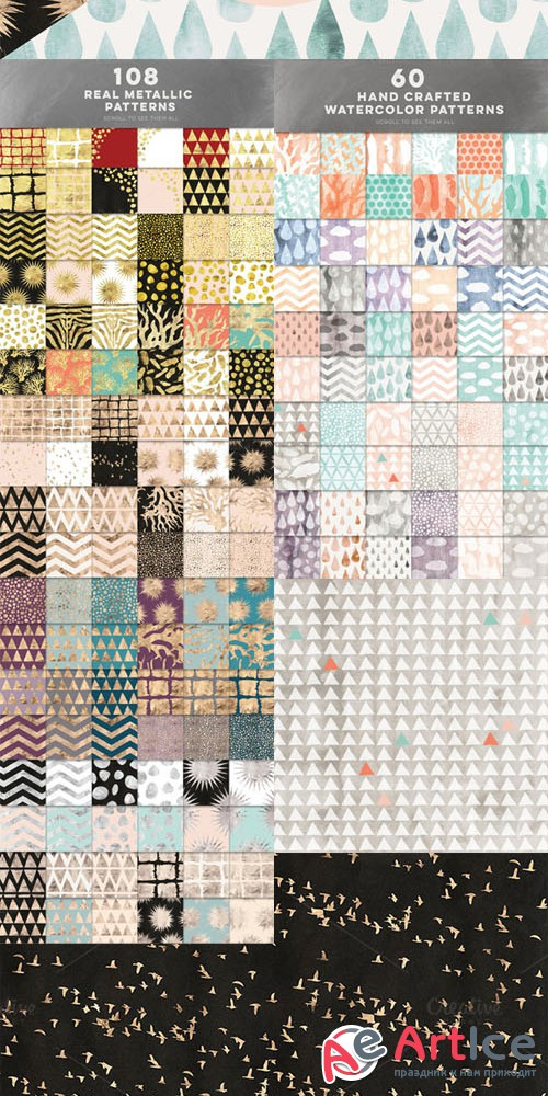 Creativemarket - 168 Subtly Textured Patterns Bundle 245836