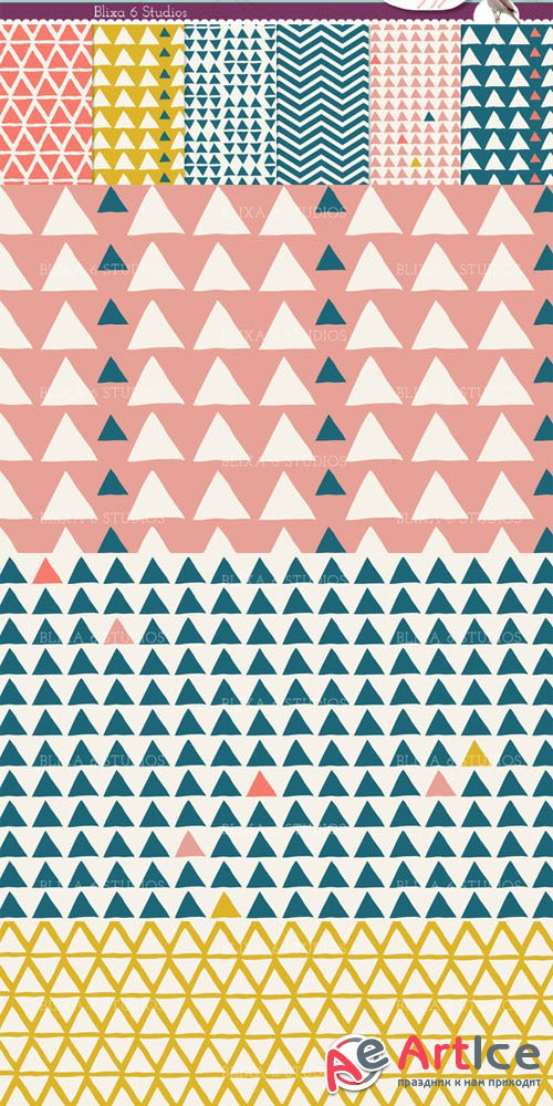 Creativemarket - Organic Triangular Digital Paper 26135