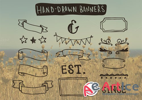 Creativemarket - Hand-Drawn Banners and Frames 24904