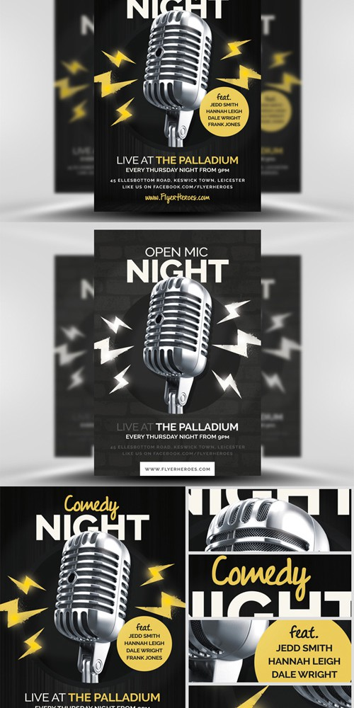 Flyer Template - Open Mic / Comedy Night