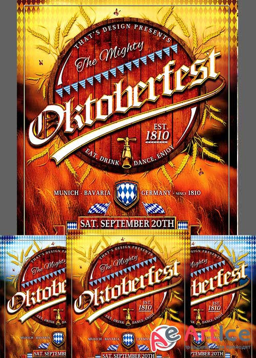 Oktoberfest Flyer Bundle V2
