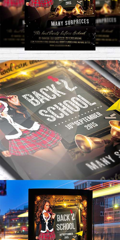Flyer Template - Back to School vol 2 + Facebook Cover
