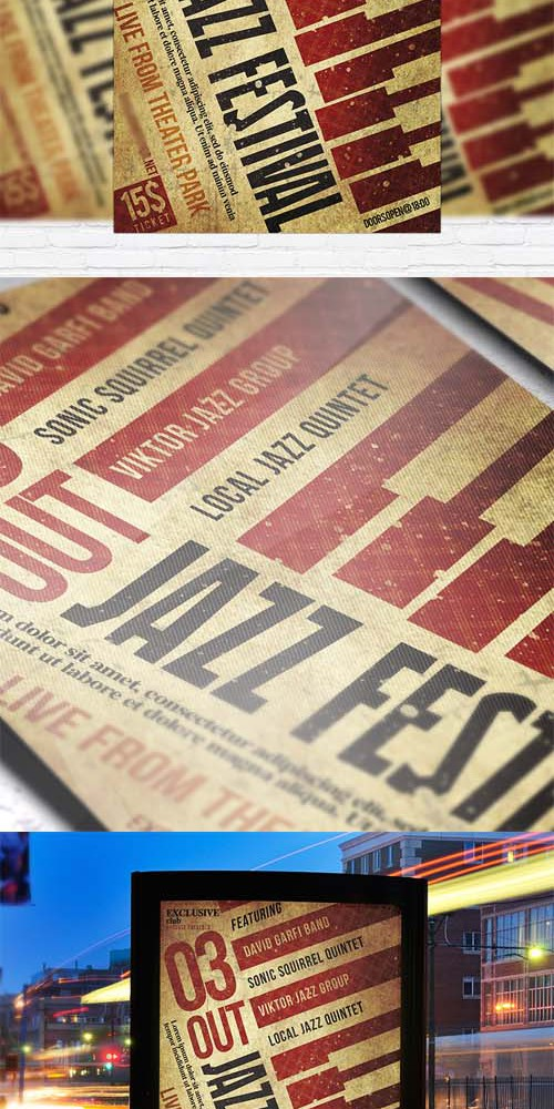Flyer Template - Jazz Festival Vol 2 + Facebook Cover