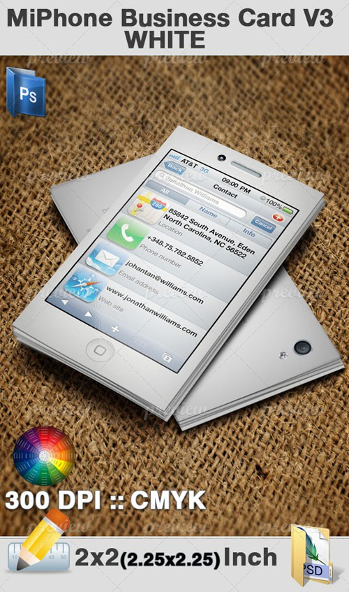 Miphone Business Card V3 White