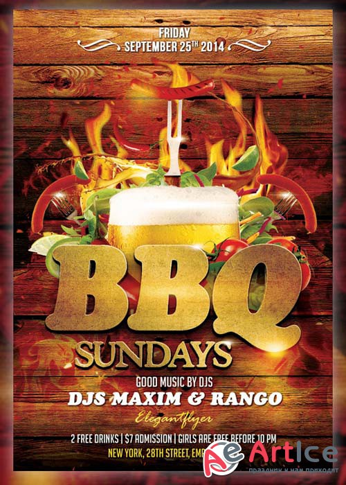 Barbecue(bbq) Flyer Template