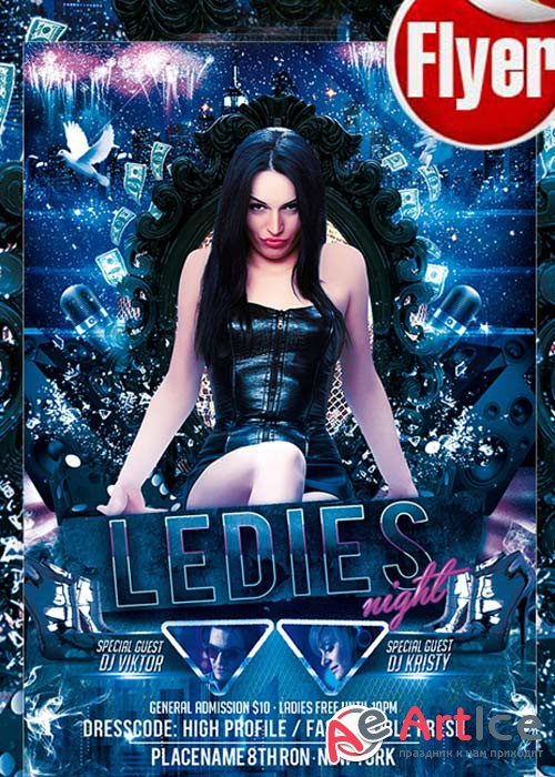 Ladies Night – Free Club and Party Flyer PSD Template