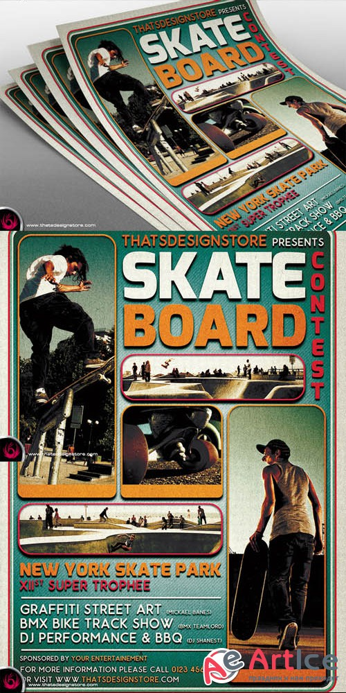 Creativemarket - Skating Competition Flyer Template 313802