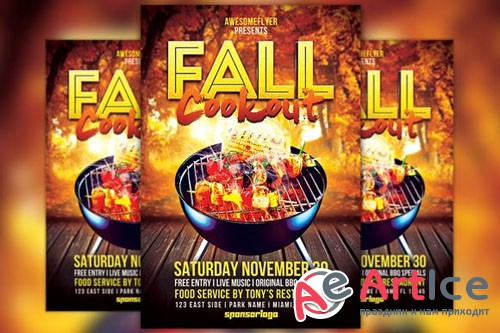 Creativemarket - Fall Cookout Flyer Template 313806