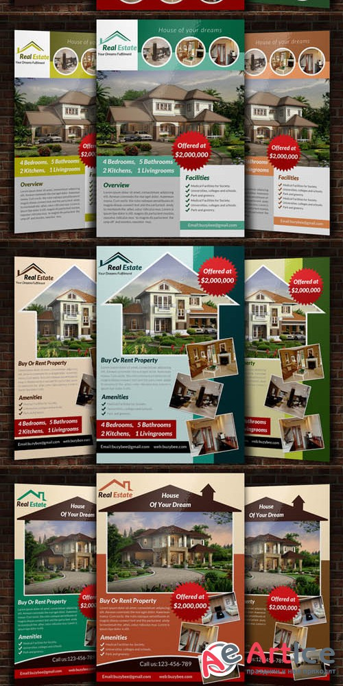 6 Real Estate Flyer Bundle - Creativemarket 226889