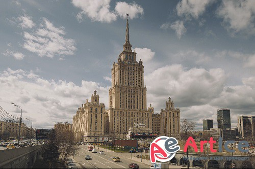 Moscow's Hotel 4k timelapse