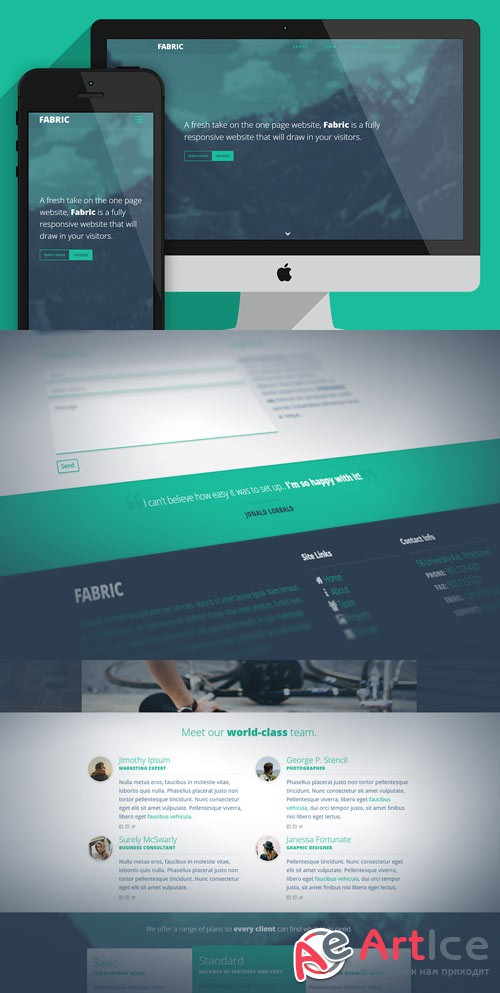 Fabric - One page website template