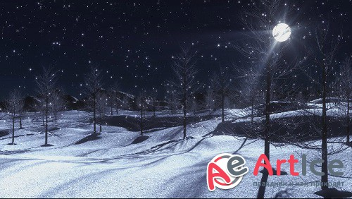 New Year winter background
