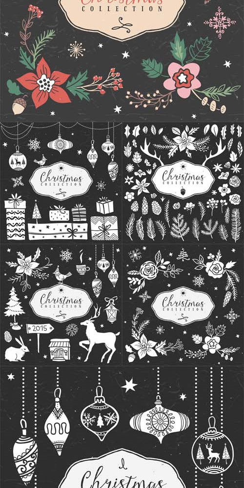 Vector Set - Christmas Collection Design Elements v2