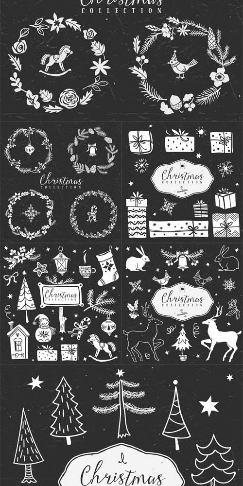 Vector Set - Christmas Collection Design Elements
