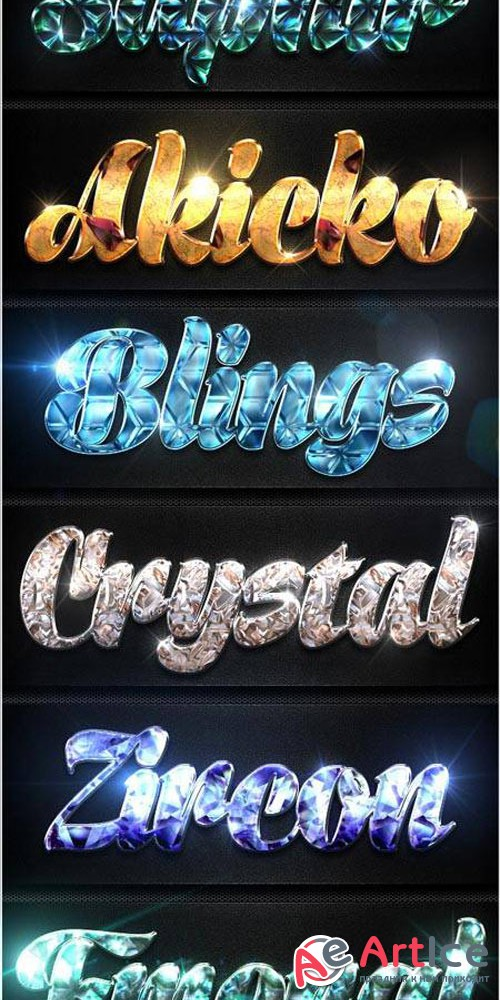 12 Crystal Collection Text Effect Styles Vol.1