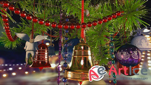 Christmas Bells Video Footage