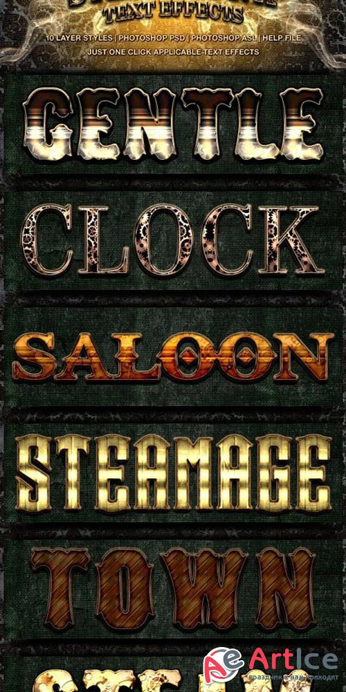 Steampunk Text Effects