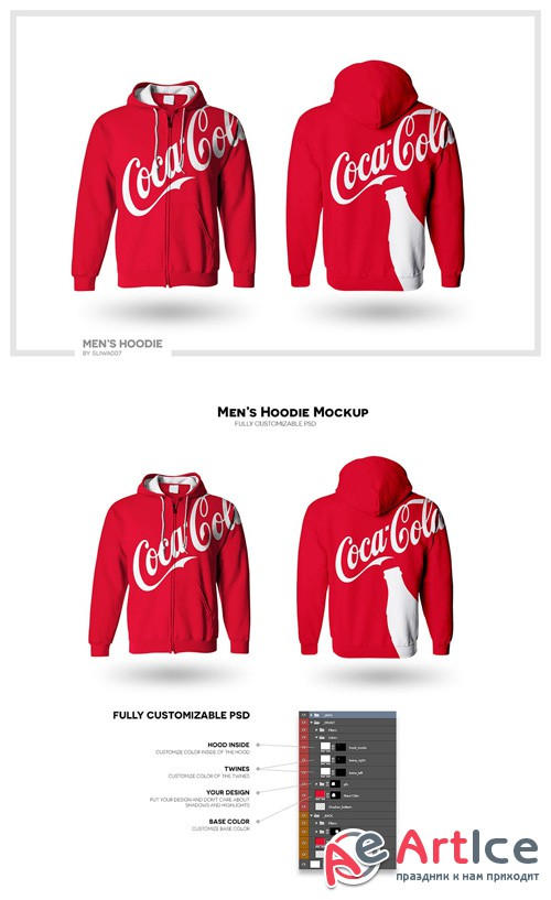 Hoodie Mock-up Template