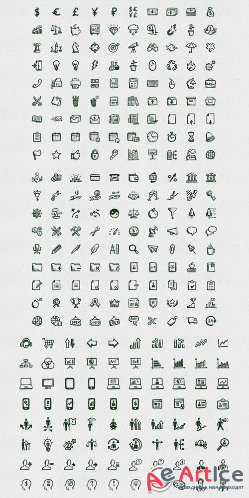 Busy Icons Font - Creativemarket 27523